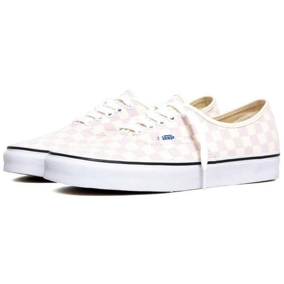 VANS Checkerboard Authentic Sneakers Pink Skater 4a6c18e12
